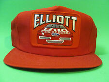 Vintage Bill Elliott Bud King Of Beers Snap Back Hat Made In USA Red Color.