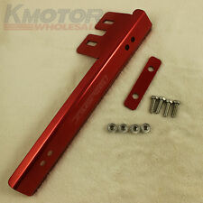 RED JDMSPEED BUMPER UNDRILLED JDM LOOK FRONT LICENSE PLATE RELOCATOR GRILLE