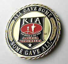 """KIA ALL GAVE SOME SOME GAVE ALL PATRIOTIC SERIES CHALLENGE COIN 1.6"""" NEW IN CASE"""