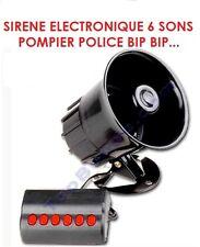 SIRENE ELECTRONIQUE 6 SONS POMPIER POLICE BIP BIP 12V 115DB! HDJ KDJ BJ LJ HILUX