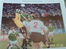england v ireland june 1990 world cup in italy football picture
