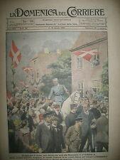 DANEMARK SLESVIG ROI CHRISTIAN X VENISE RAID DANDOLO DOMENICA DEL CORRIERE 1920