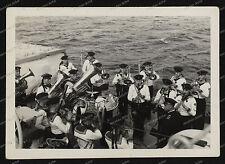 Panzerschiff-deutschland-Musikkorps-Battleship-Kriegsmarine-Musiker an Deck-5