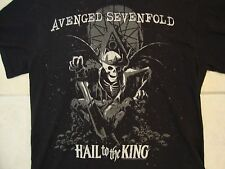 Avenged Sevenfold 7Fold Christian Heavy Metal Band Skeleton King Black T Shirt L