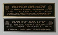 Royce Gracie UFC nameplate for signed mma gloves photo case