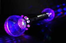 Light-Up Double Disco Crystal Ball Flashing Prism Wand Blinking Rave Show