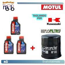 TAGLIANDO FILTRO OLIO + 3LT MOTUL 5000 10W40 KAWASAKI ER 500 1997