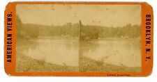 Brooklyn NYC NY-LULLWATER IN LAKE-PROSPECT PARK-Stereoview American Views