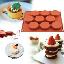 9-Cavity Silicone Food Soap Cake Mold Baking Mould Pan Chocolate Muffin Bareware