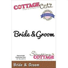 COTTAGE CUTZ WEDDING BRIDE AND GROOM DIE CUTTING DIES - NEW UNIVERSAL FIT