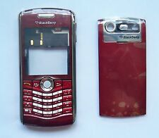 Red Housing cover fascia case facia faceplate for BlackBerry Pearl 8120 red