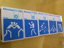 5 x Matchbox OTL AICHER HFG  OLYMPISCHE SPIELE MÜNCHEN MUNICH 1972