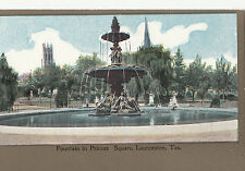 Postcard Australia Fountain in Prince's Square Launceston Tasmania, unused