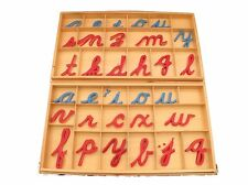 NEW Montessori Language Material - Large Cursive Movable Alphabet with Boxes