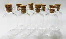 "mini bottles with cork top 8 Nsstar small glass 1.5"" charms favors weddings"