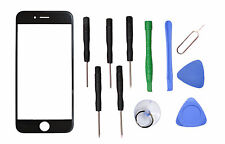 """Black Front Outer Screen Glass Lens Replacement Parts for Apple 4.7"""" iPhone 6s"""