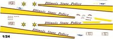 Illinois State Police 1/25th - 1/24th Scale Waterslide Decals