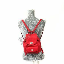 COACH Mini Turnlock Rucksack RED Purse Polished Pebble Leather BRAND NEW $295