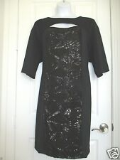 Womens Plus Size Dress Little Black Dress with 3/4 Sleeves Sequins 3X Must Have!