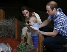 Prince William, Kate Middleton & Prince George 10 x 8 UNSIGNED photo - P666