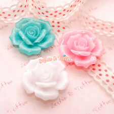 6pcs Stunning Glitter Rose Cabochon   Decoden Pieces   Resin Cabochon