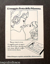[GCG]  N806 - Advertising Pubblicità -1974- BACI PERUGINA , FESTA DELLA MAMMA