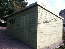 20x10ft 19MM Tanalised PENT  HEAVY DUTY Workshop/Shed **FREE WINTER UPGRADE**