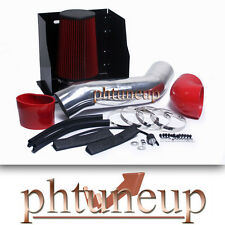 RED 2003-2007 HUMMER H2 6.0 6.0L HEATSHIELD COLD AIR INTAKE KIT SYSTEMS