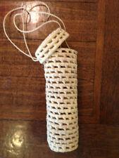 Handmade Wine or Bottle Gift Bag Basket Travel Carrier Weaved Palm leaf