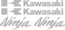 Kawasaki Decal monster SILVER Sticker Motorcycle ninja 250r 650 300 zx 636 1000
