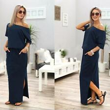 Women Sexy Summer Casual Sleeveless Evening Party Beach Dress Maxi Dress NY XL