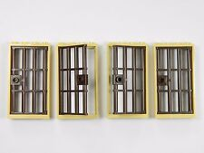 LEGO barred door gate 1x4x6 TAN BROWN x4 for castle prison dungeon jail bars