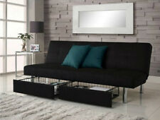 Futon Frame and Mattress Included Sofa Beds For Small Spaces With Storage Couch