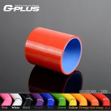 "3"" 76mm Silicone Straight Hose coupler Turbo Intercooler Pipe Hoses Red"