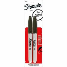 Black Sharpie Permanent Marker 2 Pens , Fine Point, Pen Office Supplies Gift New