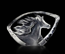 Mats Jonasson Crystal Art Glass Horse Sculpture/Statue/Figurine 88146 Brand New!