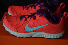 New In Box Nike Wild Trail Shoes Womens Size 5 Bright Crimson, Hot Purple, Teal