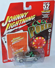 Poker #2 - 1998 DODGE VIPER RT/10 - silver/graphics - 1:64 Johnny Lightning