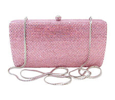 AnthonyDavid Pink Crystal Evening Bag Handbag Clutch Purse w/ Swarovski Crystals