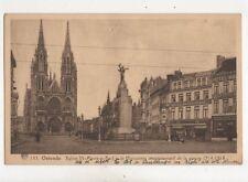 Ostende Eglise SS Pierre & Paul Monument Guerre 1914-18 Belgium Postcard 399b