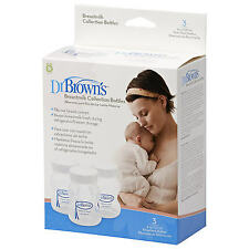 Dr Browns Simplisse Baby Breastmilk Collection & Storage Bottles 120ml/4oz 3 Pk