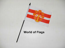 "WESTMORLAND SMALL HAND WAVING FLAG 6"" x 4"" County Crafts Table Desk Display"
