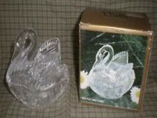 Lead CRYSTAL SWAN Trinket Jewelry Dresser BOX MIB