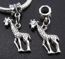 6X Tibetan Silver Giraffe Pendants Dangle Charms Bead Fit European Bracelet New