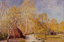 566091 Autumn Landscape Alfred Sisley A4 Photo Print