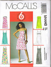 Easy Empire A-Line Dress Strapless Spaghetti Strap Sewing Pattern Sz 12 14 16 18