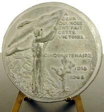 Médaille Cit Clemenceau victoire 1918 épreuve d'artiste en étain Delamarre medal