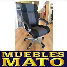 SILLA DE OFICINA SILLON DE DESPACHO SALON ESTUDIO DIRECCION GRIS/NEGRO MARVIN 3D