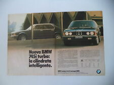 advertising Pubblicità 1980 BMW 745i 745 i TURBO