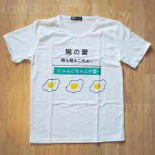 Egg t-shirt 2, japan Kana, kawaii, food, kanji - size 8-10 UK , cute, harajuku